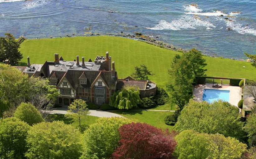 Fairholme – A Historic Waterfront Tudor Mansion In Newport, RI Re-Listed