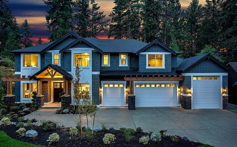 $2.9 Million Newly Built Craftsman Style Home In Bellevue, WA