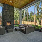 Covered Porch w/ Fireplace