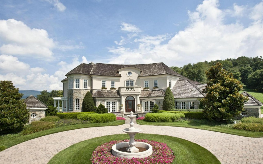 10,000 Square Foot French Inspired Mansion On 41 Acres In Myersville, MD