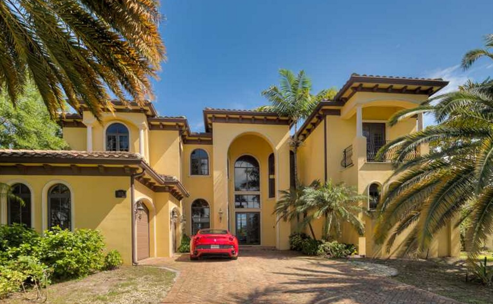 $3.7 Million Mediterranean Waterfront Home In Hallandale Beach, FL