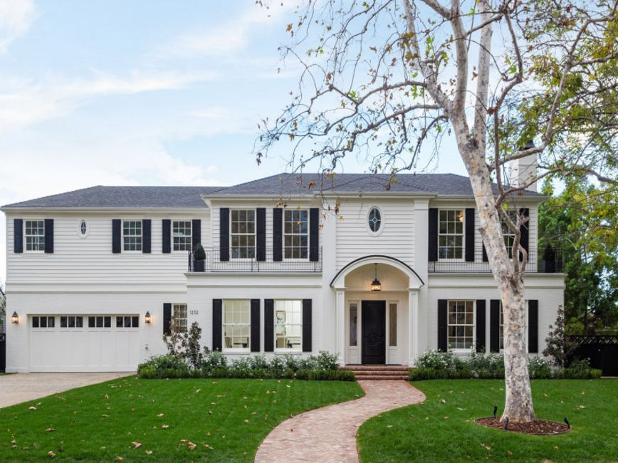 $11.75 Million Newly Built Traditional Mansion In Pacific Palisades, CA