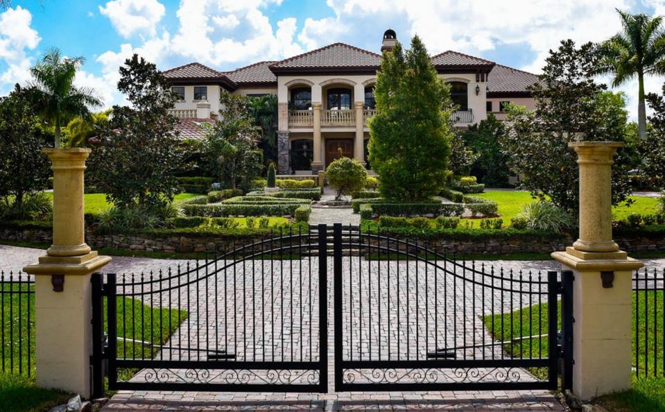 14,000 Square Foot Mediterranean Mansion In Parkland, FL