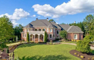 $2.995 Million Brick Mansion In Alpharetta, GA