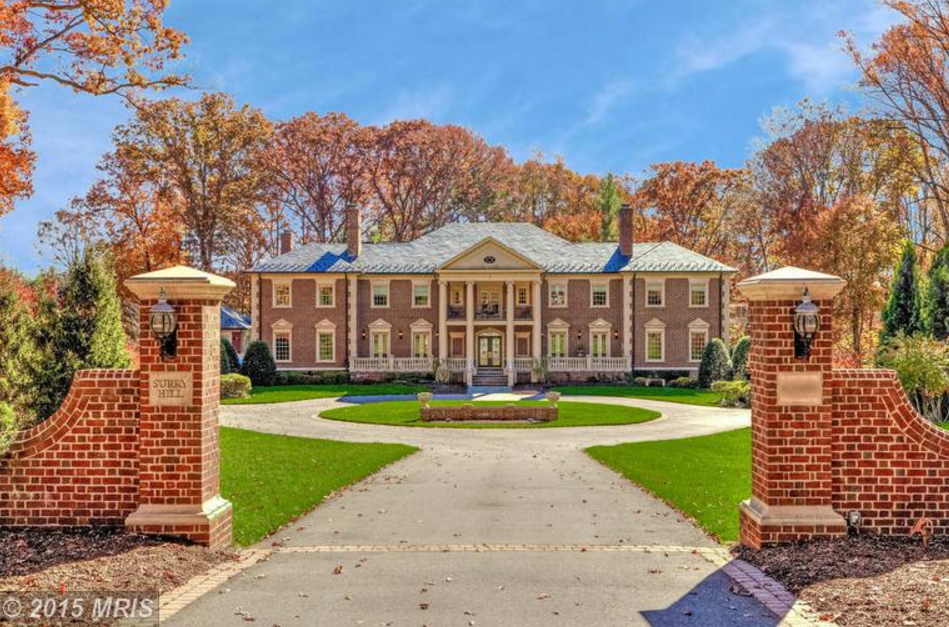 15,000 Square Foot Georgian Brick Mansion In McLean, VA Re-Listed
