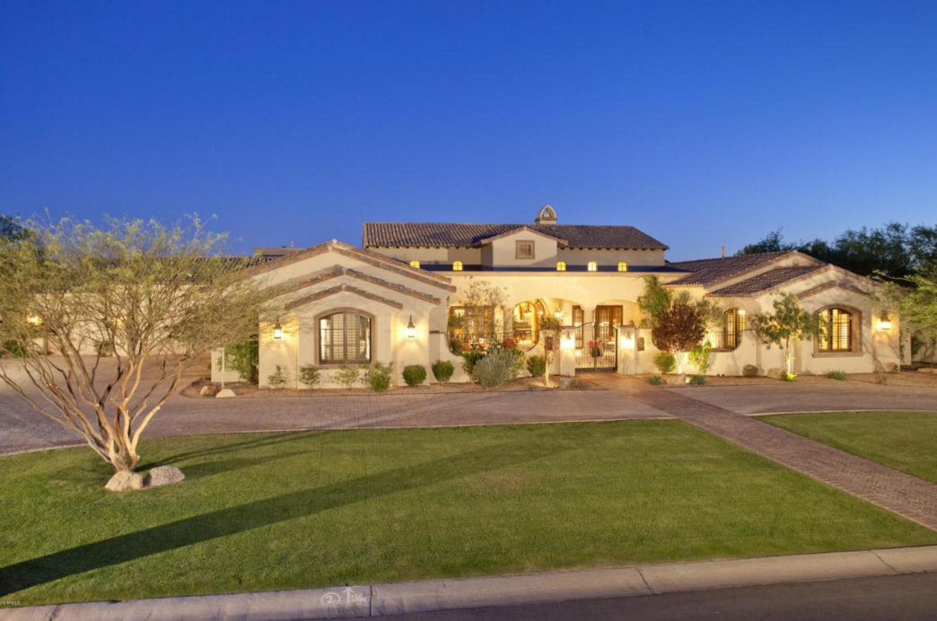 10,000 Square Foot Spanish Style Stucco Mansion In Scottsdale, AZ