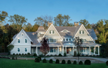 $4.595 Million Newly Built Colonial Shingle Home In New Canaan, CT