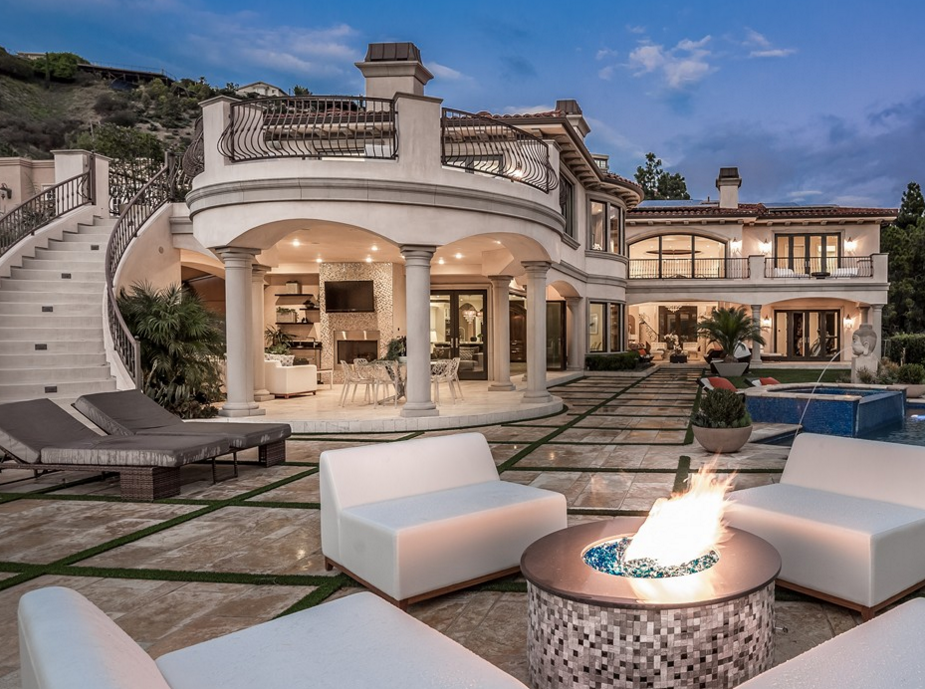 Million mediterranean mansion in los angeles ca for California los angeles houses