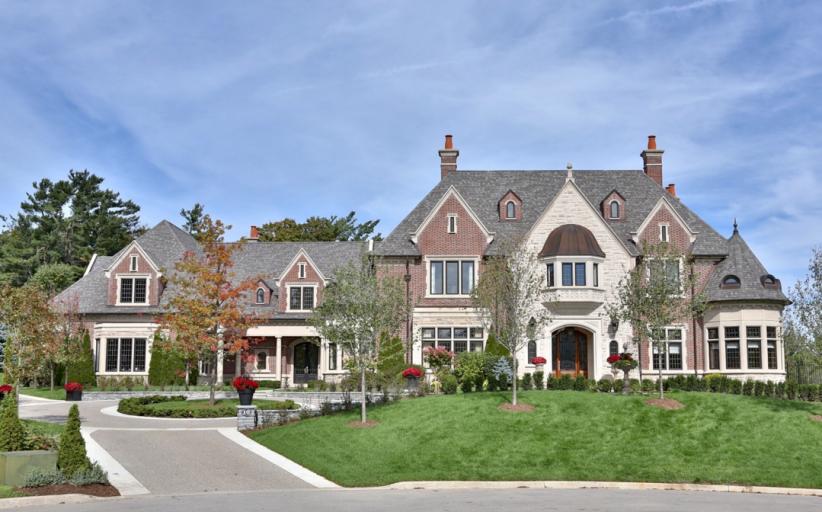 12,000 Square Foot Brick & Stone Mansion In Ontario, Canada