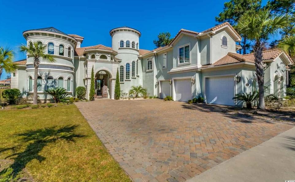 $2.75 Million Mediterranean Waterfront Home In Myrtle Beach, SC