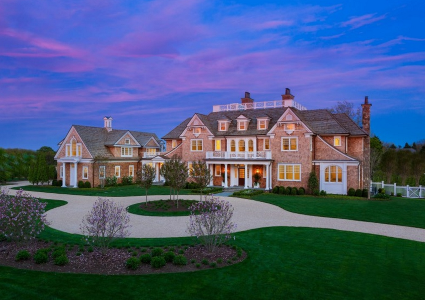 Twin Peaks A 45 Million Newly Built Shingle Mansion In Southampton Ny on Luxury Penthouse Apartment Floor Plans