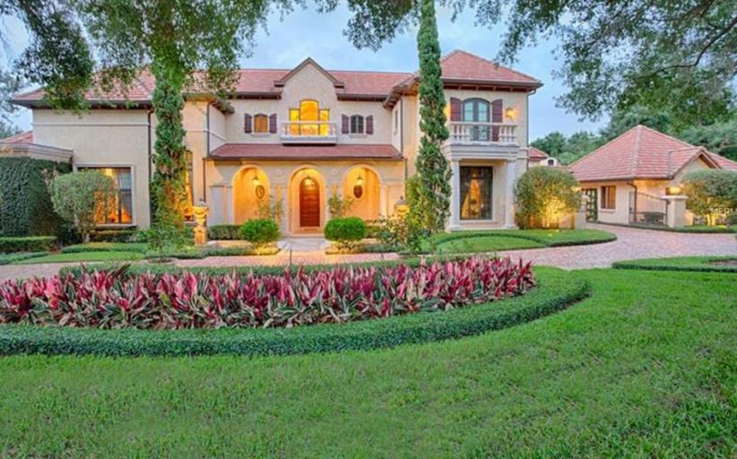 $8.5 Million Mediterranean Lakefront Mansion In Windermere, FL