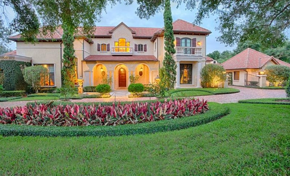 $8.5 Million Mediterranean Lakefront Mansion In Windermere, FL
