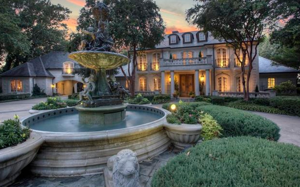 $5.75 Million Lakefront French Inspired Limestone Mansion In Heath, TX