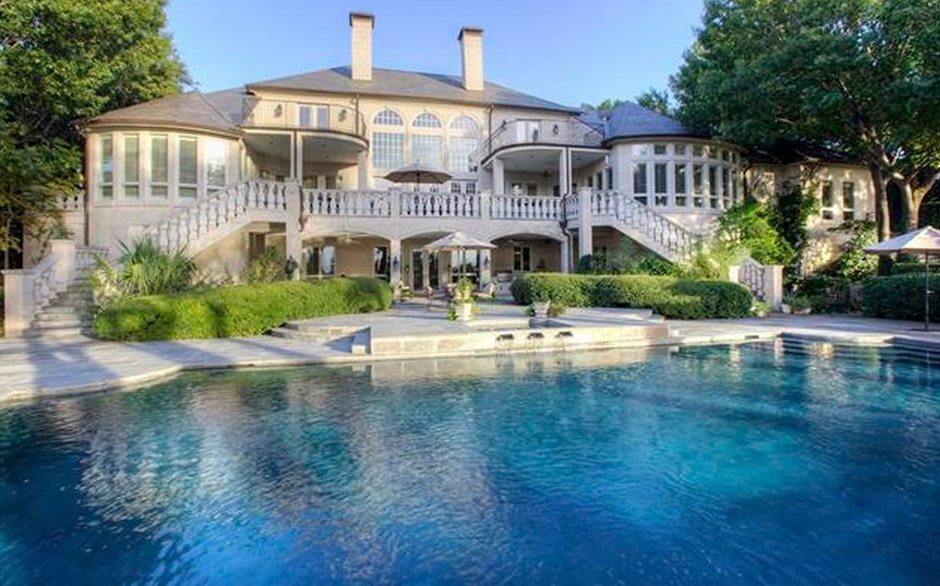 5 75 Million Lakefront French Inspired Limestone Mansion
