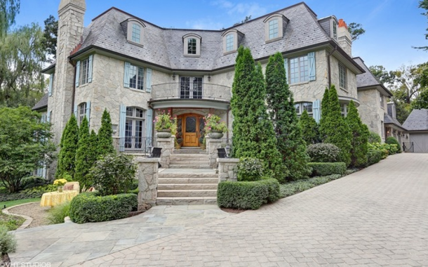 10,000 Square Foot French Country Inspired Stone Mansion In Hinsdale, IL