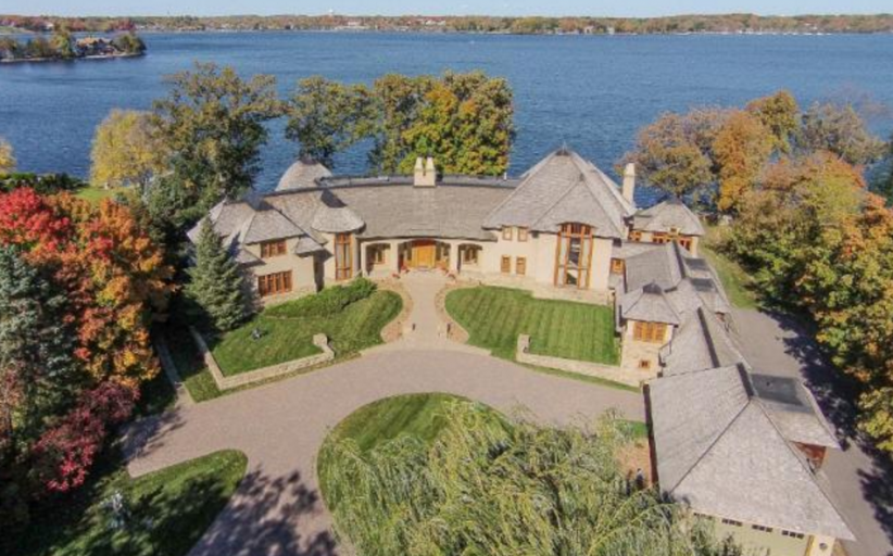 12,000 Square Foot European Inspired Lakefront Mansion In Woodland, MN