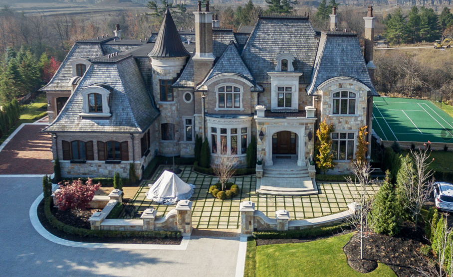 15 000 Square Foot Newly Built European Inspired Stone Mansion In Ontario Canada Homes Of The