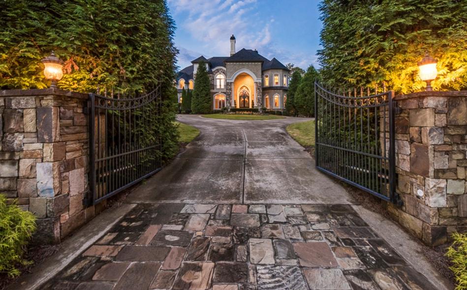 15,000 Square Foot Stone & Stucco Mansion In Milton, GA