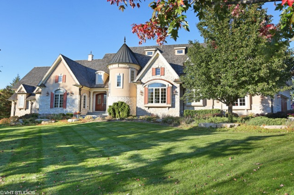 11,000 Square Foot French Normandy Mansion In Barrington, IL