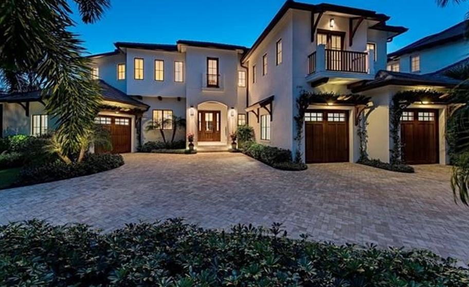 $6.45 Million Newly Built Mediterranean Waterfront Home In Naples, FL