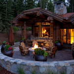 Rear Exterior w/ Fire Pit