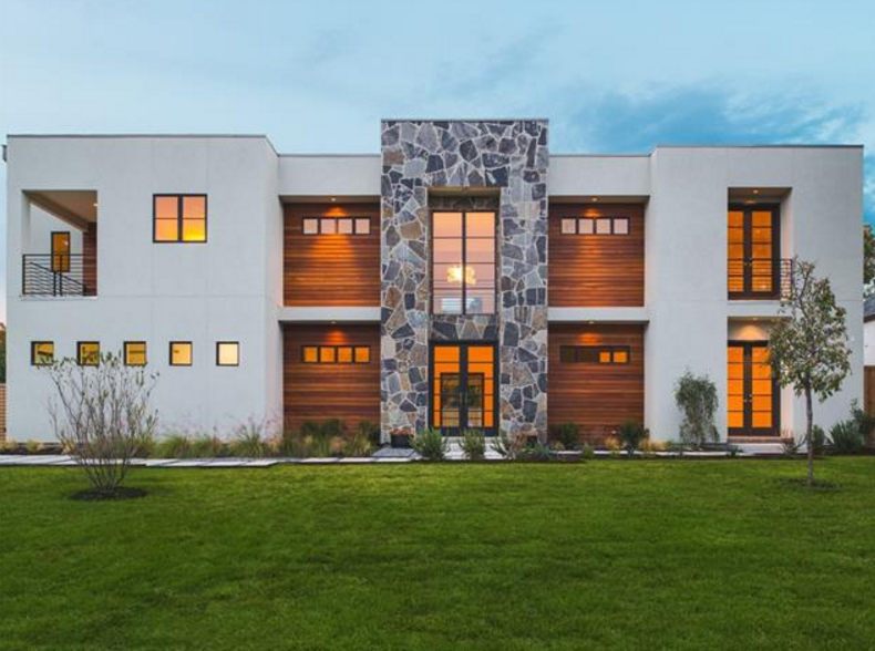 Newly Built Contemporary Home In Dallas, TX For Under $2 Million