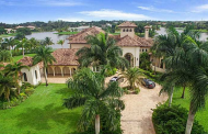 10,000 Square Foot Mediterranean Lakefront Mansion In Davie, FL