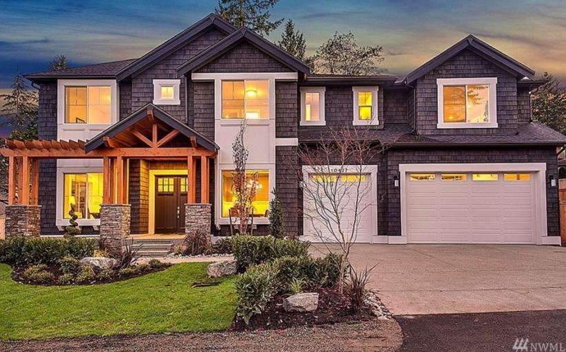 $2.4 Million Newly Built Craftsman Home In Bellevue, WA