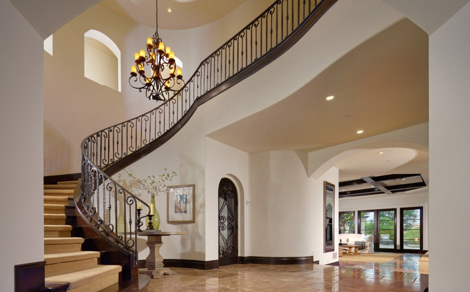 3 4 million spanish style home in ladera ranch ca Ranch style staircase