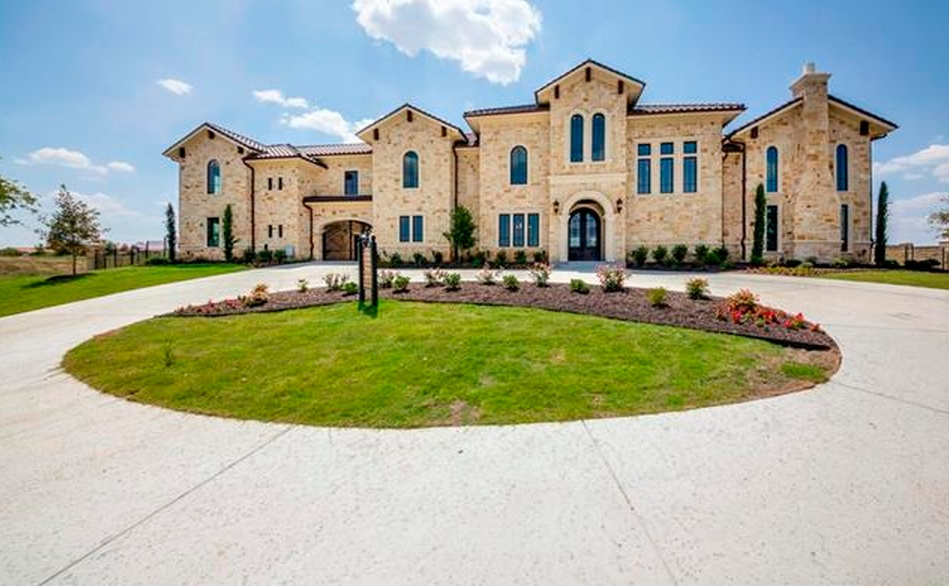 $2.45 Million Newly Built Stone Home In Fort Worth, TX