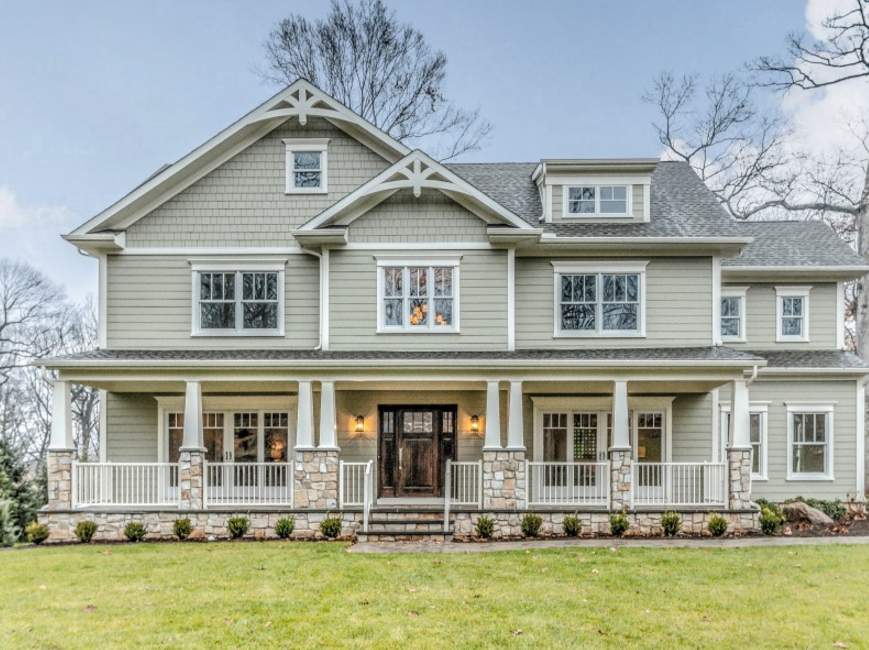 2 425 million newly built craftsman style home in madison nj homes of the rich