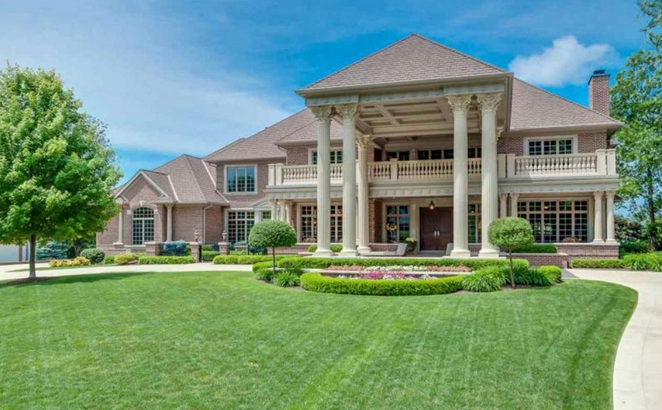 11,000 Square Foot Lakefront Brick Mansion In South Bend, IN