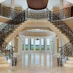 2-story Foyer w/ Double Staircase