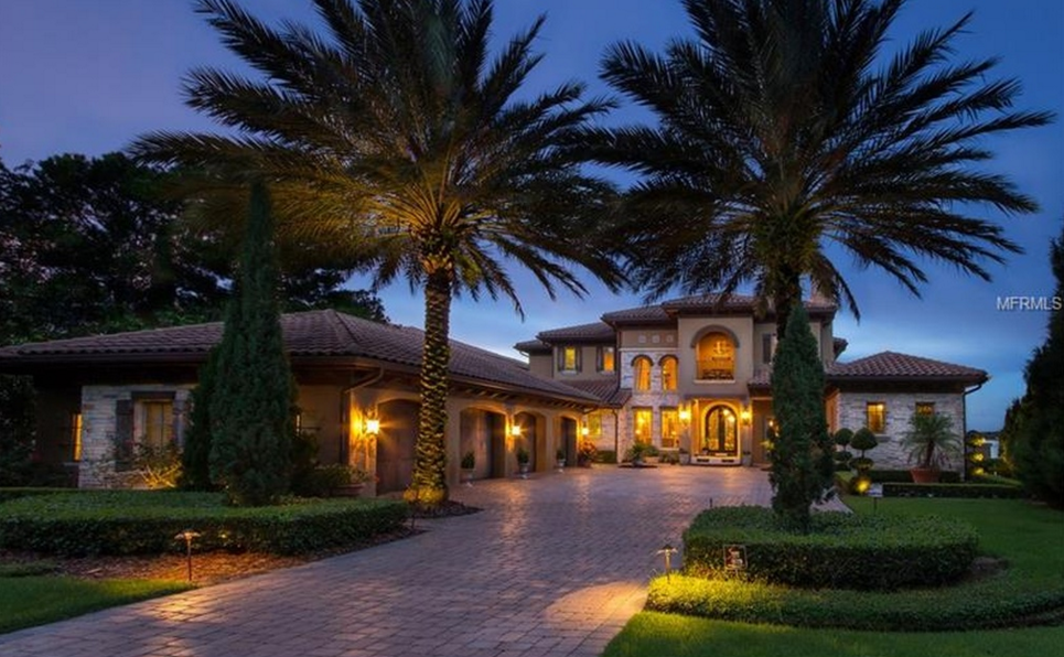Villa Castlelina – A $2.95 Million Mediterranean Lakefront Home In Montverde, FL