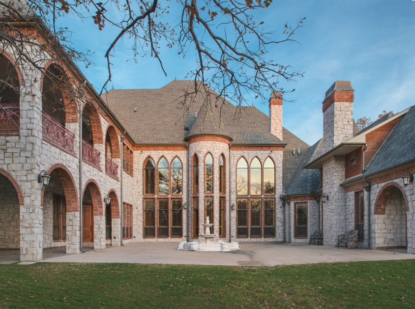12 000 Square Foot Castle Like Stone Mansion In Southlake