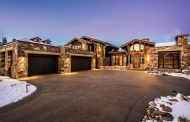 $7.495 Million Newly Built Mountaintop Stone Mansion In Park City, UT