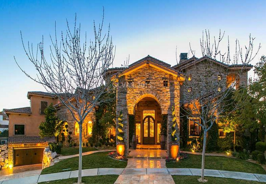 13,000 Square Foot Stone & Stucco Mansion In Henderson, NV