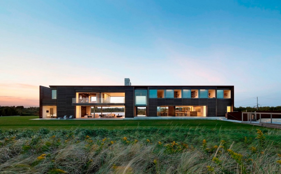 $54 Million Contemporary Oceanfront Mansion In Sagaponack, NY