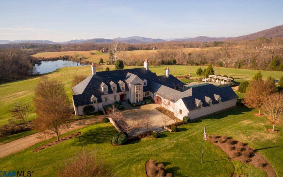 French Inspired Mansion On 42 Acres In Charlottesville, VA