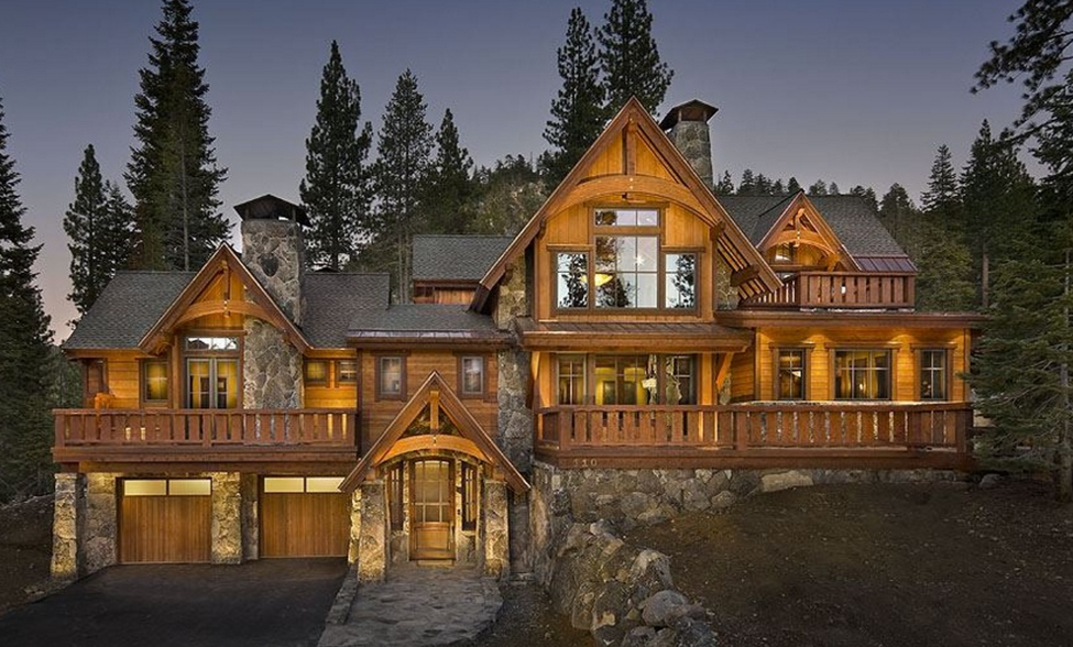 3 9 Million Wood Stone Home In Olympic Valley Ca