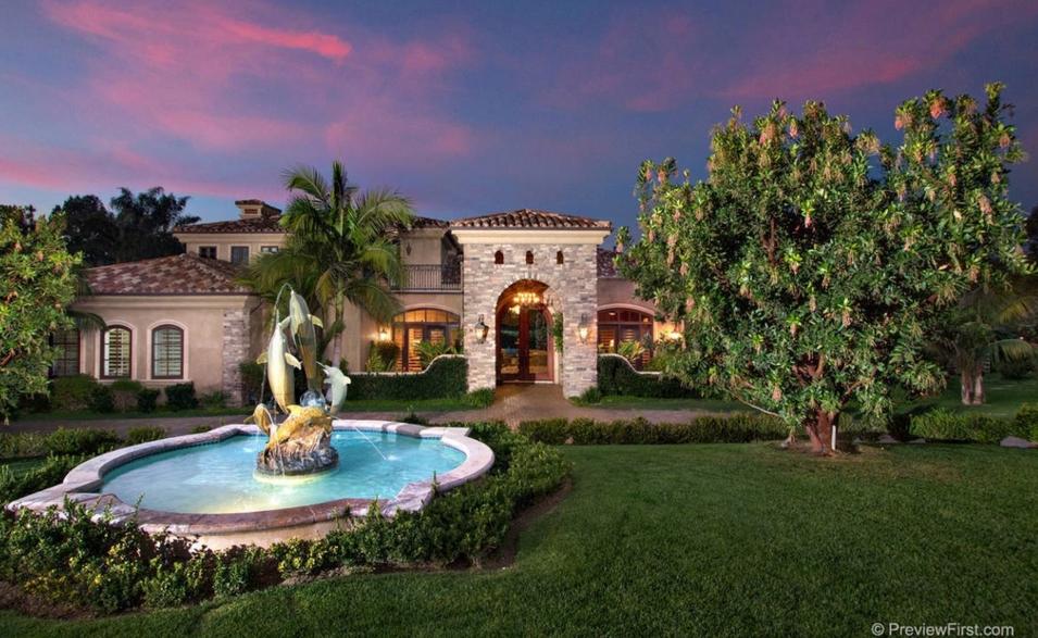 $4.25 Million Mediterranean Mansion In Rancho Santa Fe, CA