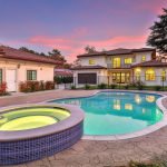 Rear Exterior w/ Pool & Pool/Guest House