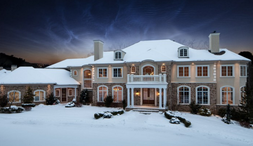 11,000 Square Foot Stone & Stucco Mansion In Shillington, PA