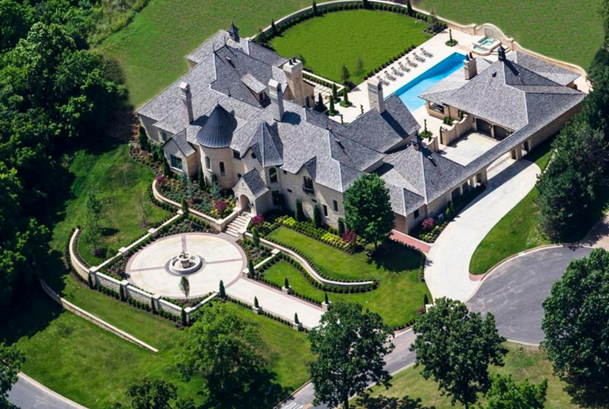 16,000 Square Foot French Inspired Limestone Mansion In Rogers, AR