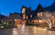 12,000 Square Foot Mountaintop Log Mansion In Landrum, SC