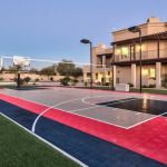 Rear Exterior w/ Basketball/Tennis Court