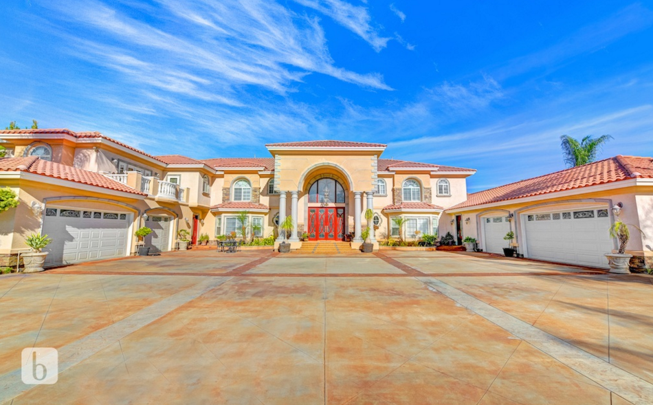 12,000 Square Foot Mediterranean Mansion In Riverside, CA