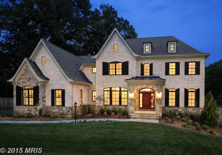 $2.89 Million Newly Built Brick & Stone Mansion In McLean, VA