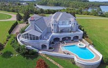 15,000 Square Foot Waterfront Stone Mansion In Vonore, TN